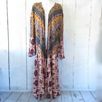 New Umgee Duster Kimono Cardigan 1X Floral Scarf Bell Sleeve Boho Plus Size