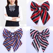 Women Bowties Striped Bow Ties Silk Tie Bow Tie Butterfly Neck Wear Collar GX