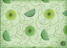 Enviroleather Garden Party Heather Floral Leaves Parasol Vinyl Upholstery Fabric