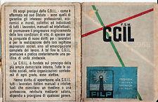 TESSERA CGIL 1958 SINDACATO PORTUALE SEZIONE DI SAVONA 1970 1-241