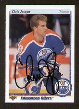 Chris Joseph signed autograph auto 1990-91 Upper Deck Hockey Card