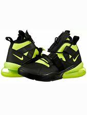 Mens Size 11.5 Nike Air Force 270 Utility Men's AQ0572-001 Black Volt Neon 2018