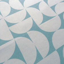 Scandinavian Fabric Remnants Blue Semi Circle Geometric Cotton Marimekko Style