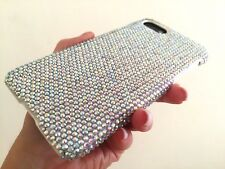 Clear AB Bling Made with Swarovski Crystals White Case Cover Skin iPhone 6 Plus