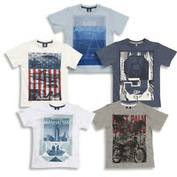 Boys Short Sleeved Cotton Printed Summer Top T Shirt Size Age 7 8 9 10 11 12 13