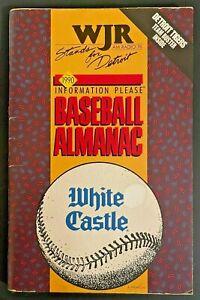 1990 WJR DETROIT Almanac Original Vintage Tigers Baseball Handbook