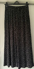 TOPSHOP BLACK POLKA DOT PLEATED CULOTTES SIZE 12