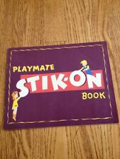 Vtg 1930s ?  1940s ? Playmate Stik-on Book Children's Sticker Story Book