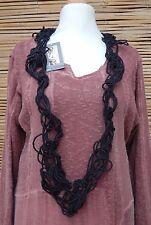 * zuza bart * design 100% pur lin amazing beautiful foulard collier * noir *