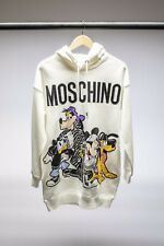 H And M Moschino Hooded Dress White - Size S