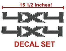 4x4 Truck Bed Decals, Metallic Graphite (Set) for Ford F-150 and Super Duty