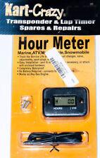 Kart Engine Hour Timer Meter - Black