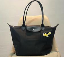 Longchamp X Pokemon Le Pliage Handbag Black Nylon Tote Bag 1899 Large