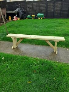 solid wood 6ft chunky bench