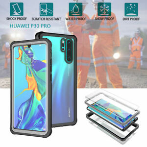 For Huawei P30 Pro Waterproof Dirt/ Shockproof Armor Case Clear Full Body Cover