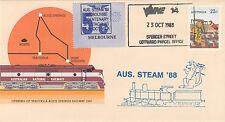Stamp Australia Tarcoola PSE 1988 AUS. STEAM 88 special cachet  label overprint