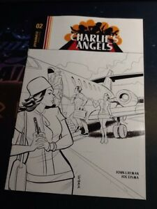 Charlies Angels #2 Black and White Variant Cover Dynamite VF/NM 9.0 (BR106)
