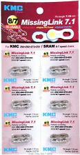 Six (6) Pack KMC MissingLink 7.1mm 6, 7, 8-Speed Bicycle Chain Links fit Z51 Z72