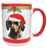 Dachshund Christmas Coffee Mug 15 oz E&S Pets Dog Puppy Tea Cup Holiday Doxie