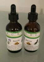 2 oz x 2 fast Hair loss edge thickening growth oil dropper castor emu biotin