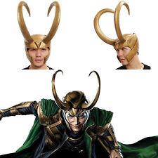 Loki Helmet Thor Cosplay Golden PVC Full Head Mask Detachable Halloween Xcoser