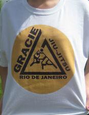GRACIE Jiu Jitsu Academy Rio De Janeiro Brazil PRIDE FC FIGHTING T shirt UFC MMA