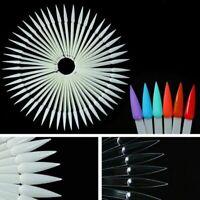 False Nail Art Polish Gel Art Tip Sample Practice Display Fan Holder 40x