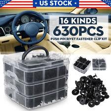 630 Pcs Car Clips Auto Fasteners Push Trim Retainer Clips Pin Rivet Bumper Set Fits Saab