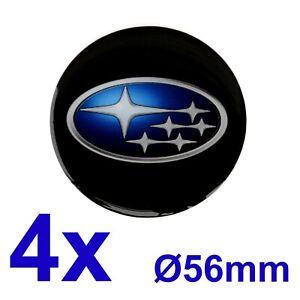 4pcs set SUBARU Silicone Stickers for Wheel Centre Cap Hubs 56mm