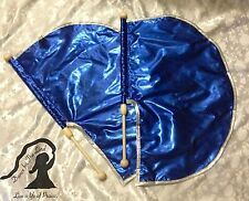 PRAISE Worship ~ X-small CHILD Set - ROYAL BLUE & SILVER Lamé ANGEL WING FLAGS