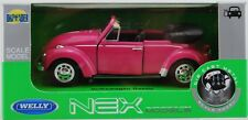 WELLY VW VOLKSWAGEN BEETLE PINK WITHOUT ROOF 1:34 DIE CAST METAL MODEL NEW