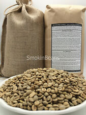 4lb Brazil RARE PEABERRY Unroasted Green Coffee Beans INCLUDES FREE BURLAP BAG