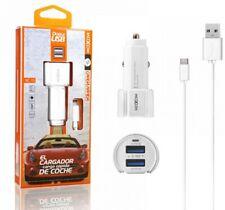 Cargador de Coche + Cable USB Tipo C 2,3A Carga Rápida Marca Moxom
