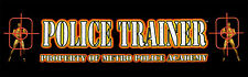 Police Trainer Arcade Marquee For Reproduction Header/Backlit Sign