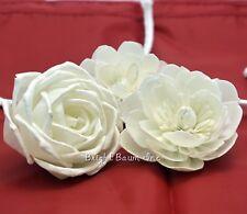 "Rose Zinnia Dahlia Sola Wood Flower Reed Diffuser Fragrance Oil 2.5"" Dia. Mix 3"
