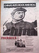 CHINA ( Davey Johnstone - Elton) 1977 UK Poster size Press ADVERT 16x12 inches