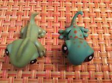 LITTLEST PET SHOP Lot Of 2 Reptiles - #97 Green  Iguana, #111 Rare Green Gecko