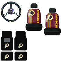 NFL Washington Redskins Car Truck Floor Mats Seat Covers & Steering Wheel Cover
