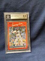1990 DONRUSS #489 SAMMY SOSA ROOKIE CARD GRADED A 8.5 BY BECKETT