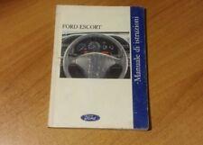Manuale di istruzioni uso e manutenzione libretto Ford Escort originale italiano