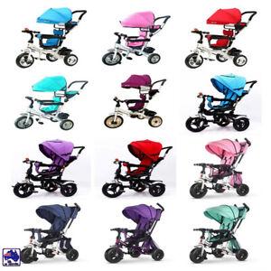 New 4 In 1 Kids Toddler Pram Stroller Reverse Trike Ride On Toy GMC001/02/04/05