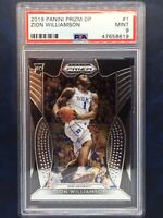 ZION WILLIAMSON 2019 Panini Prizm DP Rc #1 PSA 9 MINT Duke New Orleans Pelicans