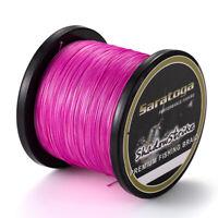 8 Strands Pink Power Dyneema Strong Braid Fishing Line PE 100M/300M/500M/1000M