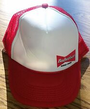Budweiser Bud Beer Alcohol Alcoholic Trucker Style Collectible Baseball Cap Hat