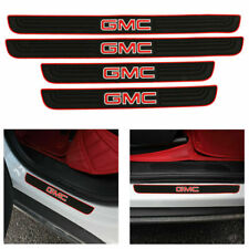 4PCS Black Rubber Car Door Scuff Sill Cover Panel Step Protector For GMC