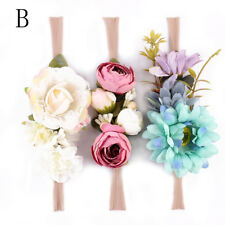 3pcs Cute Kids Baby Girl Toddler Lace Flower Hair Headwear Headband Accessories B