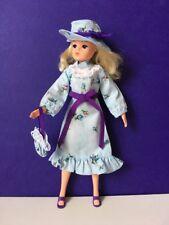 Vintage hat dress bag 70s Victoriana purple blue Sindy Tammy doll SHIMMYSHIM