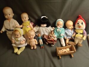 LOT OF 12+ SMALL BABY DOLLS: RELIABLE, IRWIN, CELLULOID, SOME UNIQUE