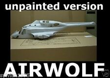 Airwolf 600 Size Unpainted Funkey Scale Fuselage Kit + retract Landing Gear NIB