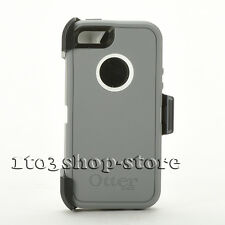 OtterBox Defender Series Case for iPhone 5 w/Holster Belt Clip White/Gray NEW